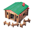 classic cabin playset canister toys remember